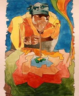 Haitiana, versión. Acuarela/papel