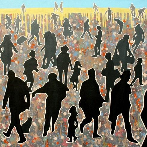 Sombras. Óleo/tabla, 70 x 70, 2015