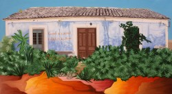 Casa en Ojós, Óleo/lienzo, 116 x 65, 2015