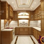 Small Kitchen Design In Classic Style