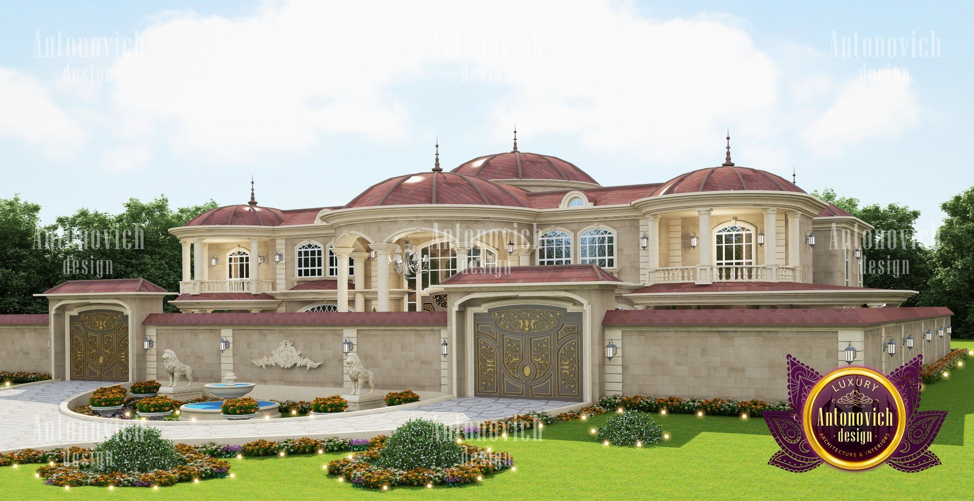 Villa Exterior Design In Art Deco
