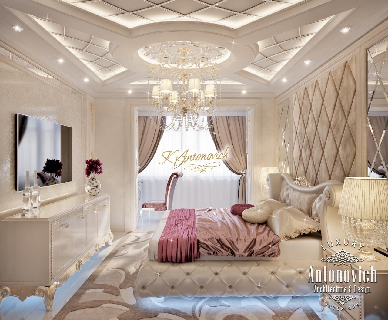 Bedroom Interior Design In Art Deco Dubai