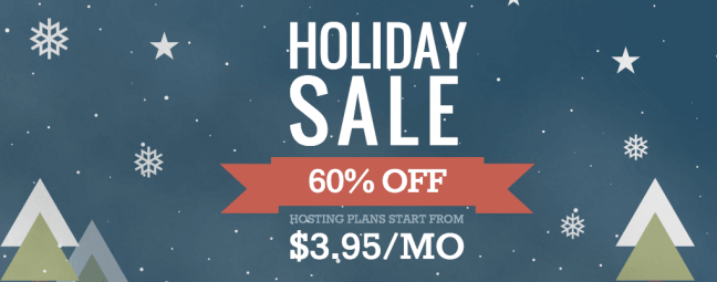 SiteGround Holiday Sale - 60% OFF