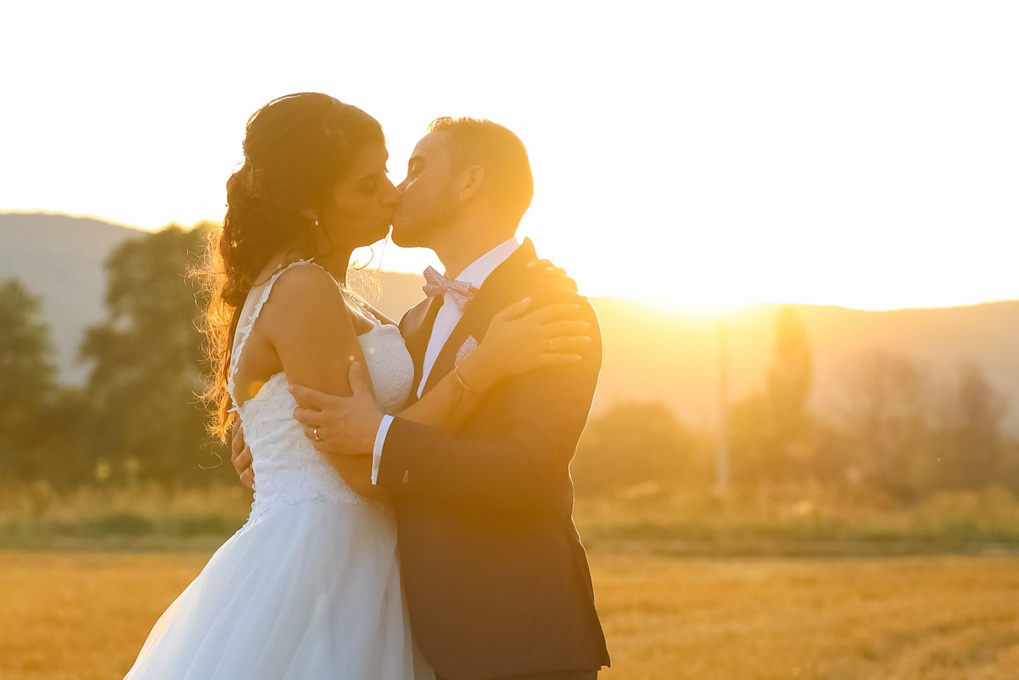 Photo Couple Mariage Sunset