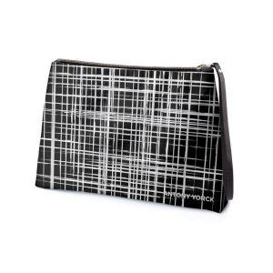 antony yorck business clutch tasche drandimon pattern print purple black white 135220 02