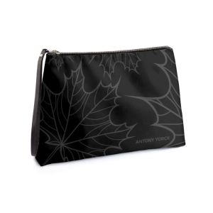 antony yorck clutch abendtasche mit maple leaf floral print purple black anthrazit 134773 01