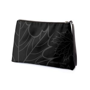 antony yorck clutch abendtasche mit maple leaf floral print purple black anthrazit 134773 02