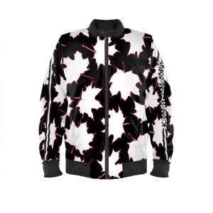 antony yorck blouson bomberjacke ml 007 maple leaf magenta white black 161325 01