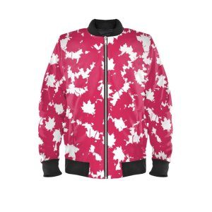 antony yorck bomberjacke ladies blouson bomber jacke jacket waterproof ml 008 maple leaf white magenta black 160450 01
