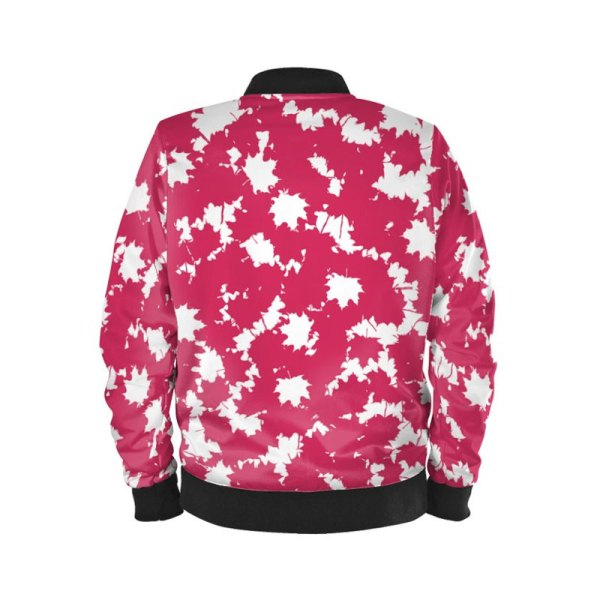 antony yorck ladies blouson bomber jacke jacket waterproof ml 008 maple leaf white magenta black 160450 02
