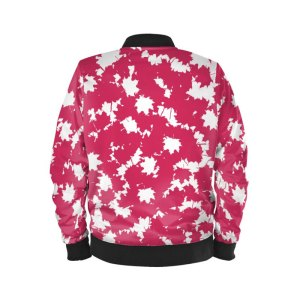 antony yorck ladies blouson bomber jacke jacket waterproof ml 008 maple leaf white magenta black 160450 02