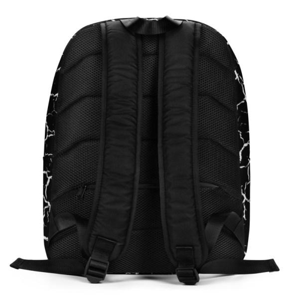 antony yorck rucksack craquelee schwarz logo weiss extra fach laptop notebook 15 zoll plus geheimfach wasserfest ansicht rueckseite