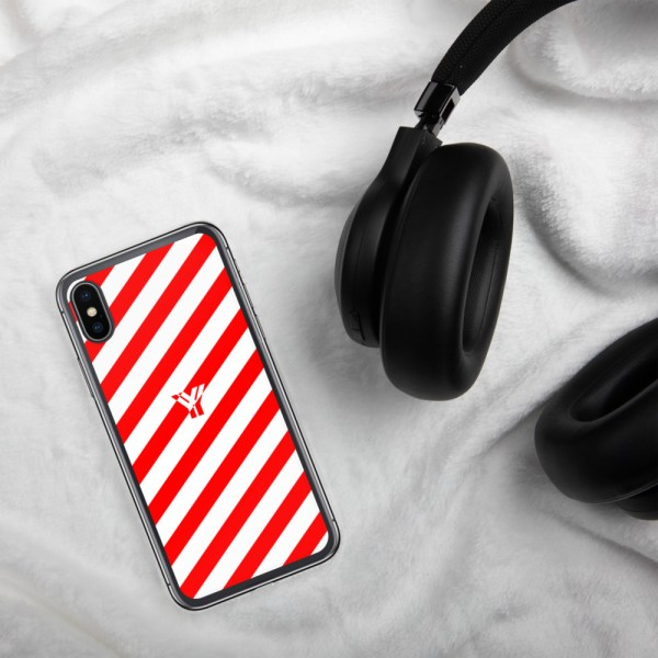 Antony Yorck • IPhone Hülle white and red • Collection OBVIOUS 25 mockup 78f4b5f2