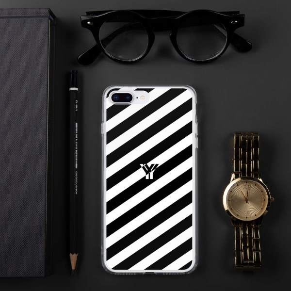 Antony Yorck • IPhone Hülle white and black • Collection OBVIOUS 15 mockup b86eeed7