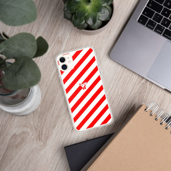 Antony Yorck • IPhone Hülle white and red • Collection OBVIOUS 2 mockup f7b036ca