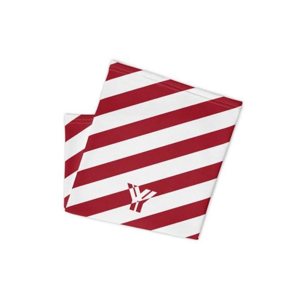Antony Yorck • Multifunktionstuch cherry weiß schräg gestreift • collection OBVIOUS 2 antony yorck multifunktionstuch cherry rot weiss gestreift neck gaiter 0034