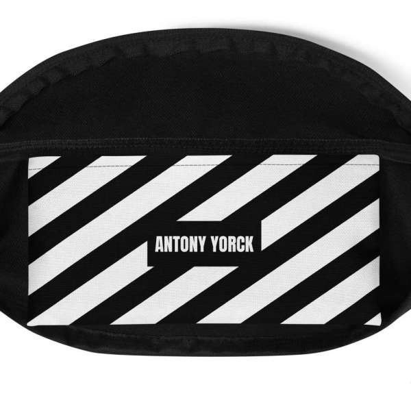Antony Yorck • Gürteltasche • Fanny Pack • black and white stripes 5 mockup 3ad3cada