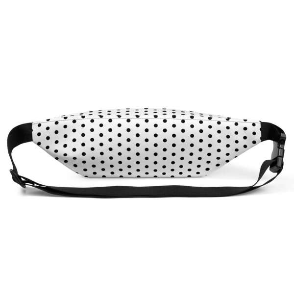 Antony Yorck • Gürteltasche • Fanny Pack • white and black dots 4 mockup 693b62b4