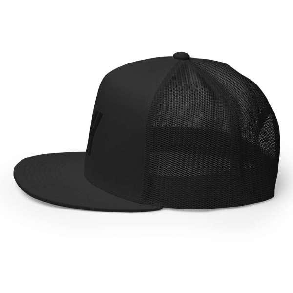Baseball Cap YY Flat Bill Trucker Cap 4 mockup dd577f34