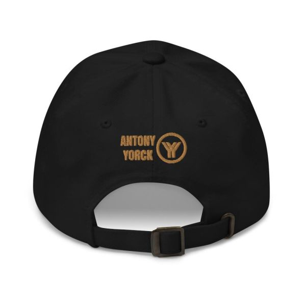 Baseball Cap YY Logo ANTONY YORCK black old gold 4 baseball cap yy logo antony yorck black old gold 02a back
