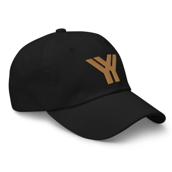 Baseball Cap YY Logo ANTONY YORCK black old gold 2 baseball cap yy logo antony yorck black old gold 12 side