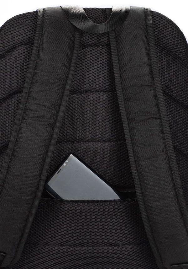 RUCKSACK STRIPES BLACK RED MIT LAPTOPFACH + GEHEIMFACH 5 rucksack backpack laptopfach pocket for laptop stripes black red 01