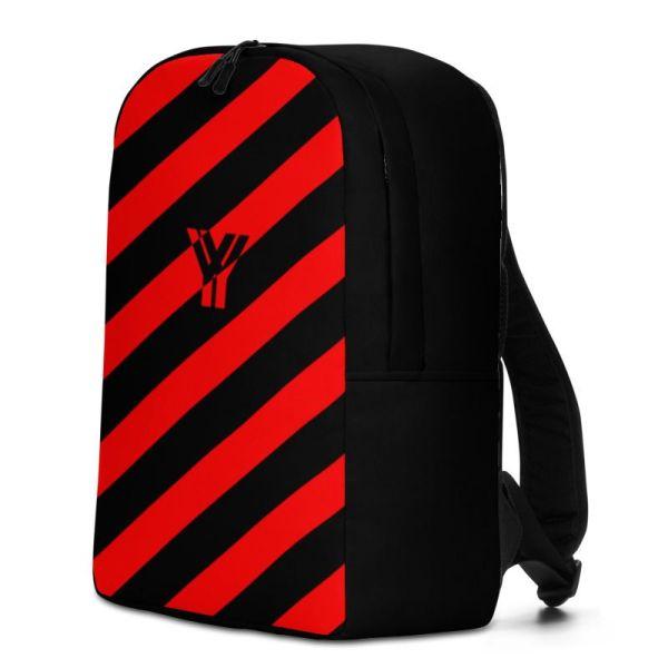 RUCKSACK STRIPES BLACK RED MIT LAPTOPFACH + GEHEIMFACH 2 rucksack backpack laptopfach pocket for laptop stripes black red 03