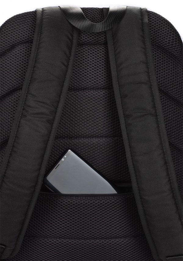LAPTOPRUCKSACK STRIPES BLACK WHITE + GEHEIMFACH 5 rucksack backpack laptopfach pocket for laptop stripes black white 01