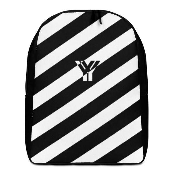 LAPTOPRUCKSACK STRIPES BLACK WHITE + GEHEIMFACH 1 rucksack backpack laptopfach pocket for laptop stripes black white 02
