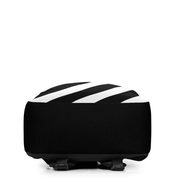 LAPTOPRUCKSACK STRIPES BLACK WHITE + GEHEIMFACH 4 rucksack backpack laptopfach pocket for laptop stripes black white 08