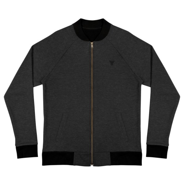 sweat jacket heather black front flat antony yorck