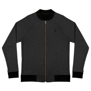 sweat jacket heather black front flat antony yorck