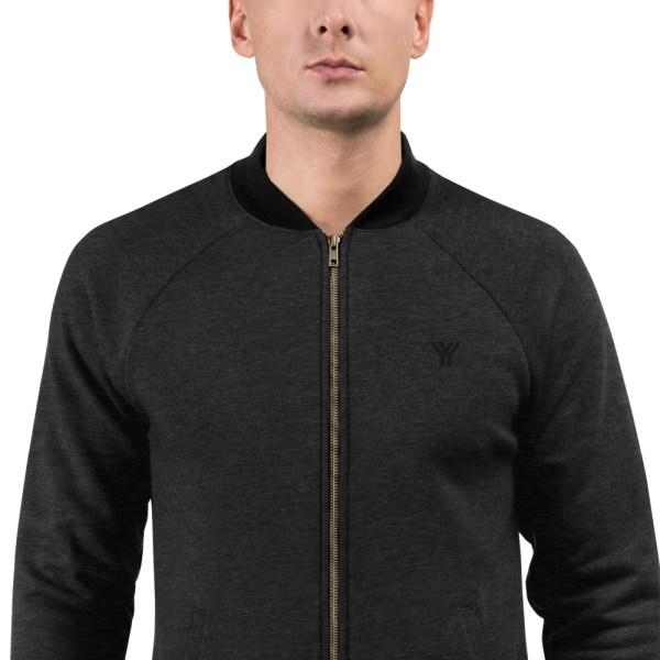 sweat jacket heather black front zoomed in antony yorck