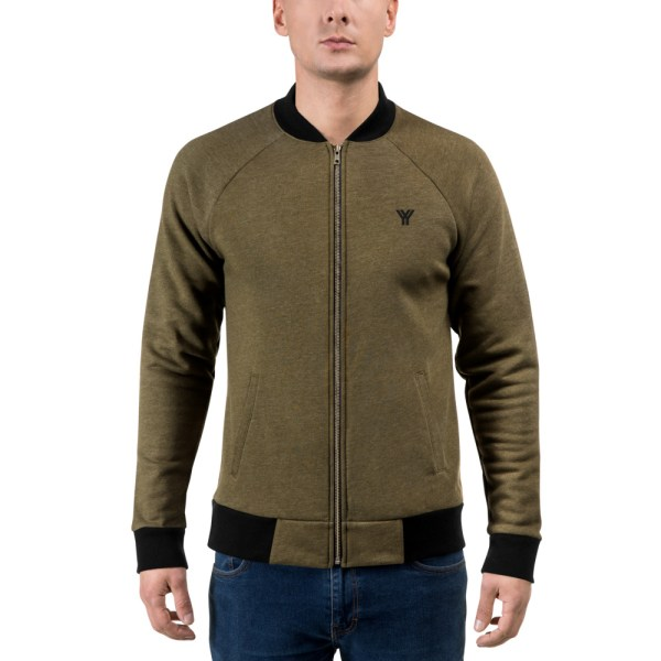 sweat jacket heather military green front antony yorck