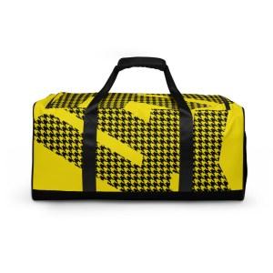 sporttasche trainingstasche houndstooth logo yellow front