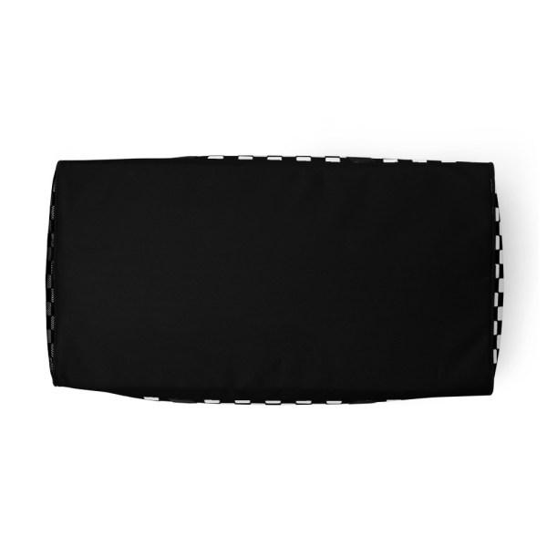 Reisetasche Karo Black White – Weekender Sporttasche Trainingstasche 6 reisetasche karo black white sporttasche weekender 02