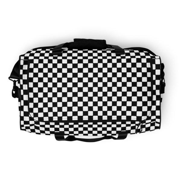 Reisetasche Karo Black White – Weekender Sporttasche Trainingstasche 5 reisetasche karo black white sporttasche weekender 20