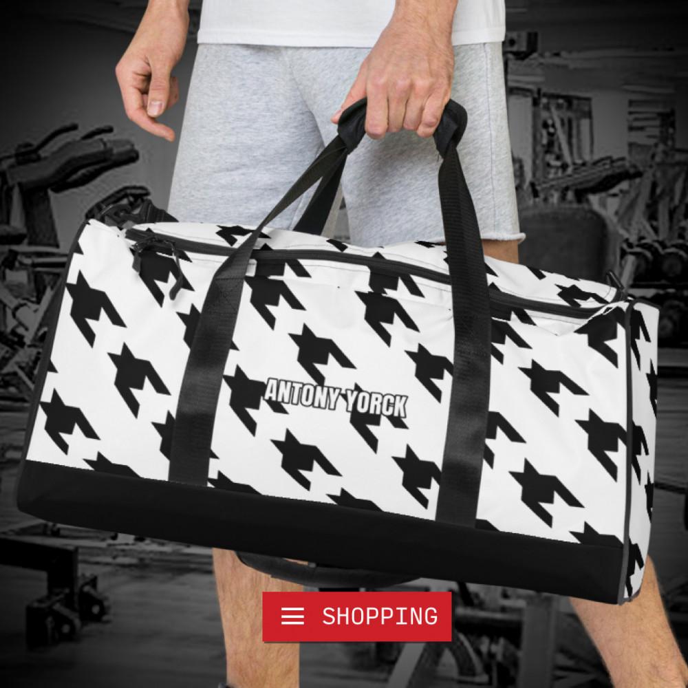 reisetasche weekender houndstooth black white sporttasche trainingstasche