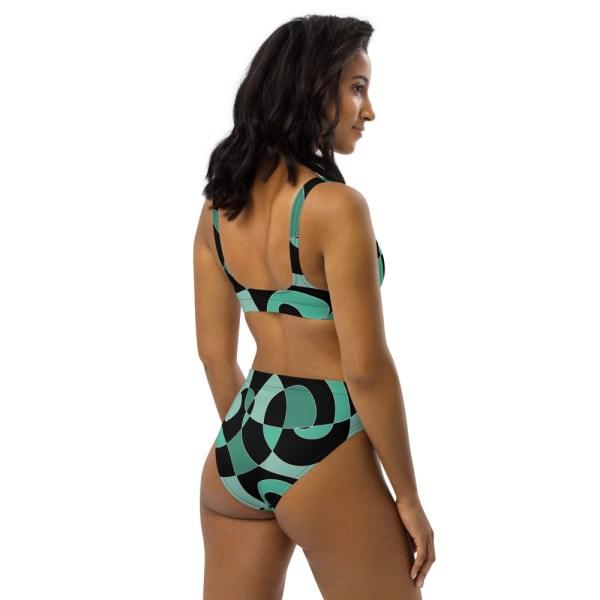 HIGH WAIST DESIGNER BIKINI aus Recyclingmaterial Ocean 5 all over print recycled high waisted bikini white right back 60be6194b0d26