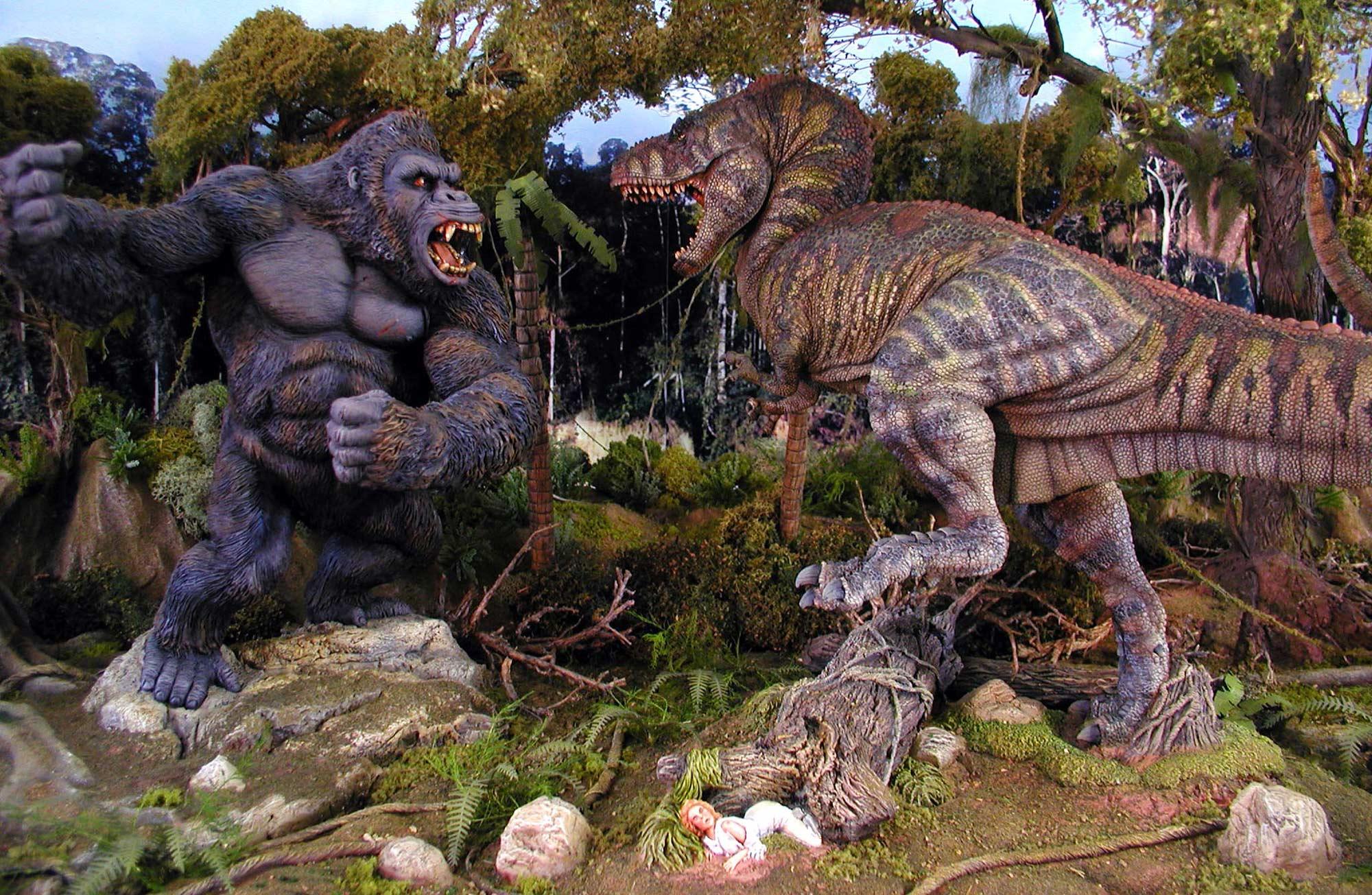 Image result for king kong vs tyrannosaurus rex