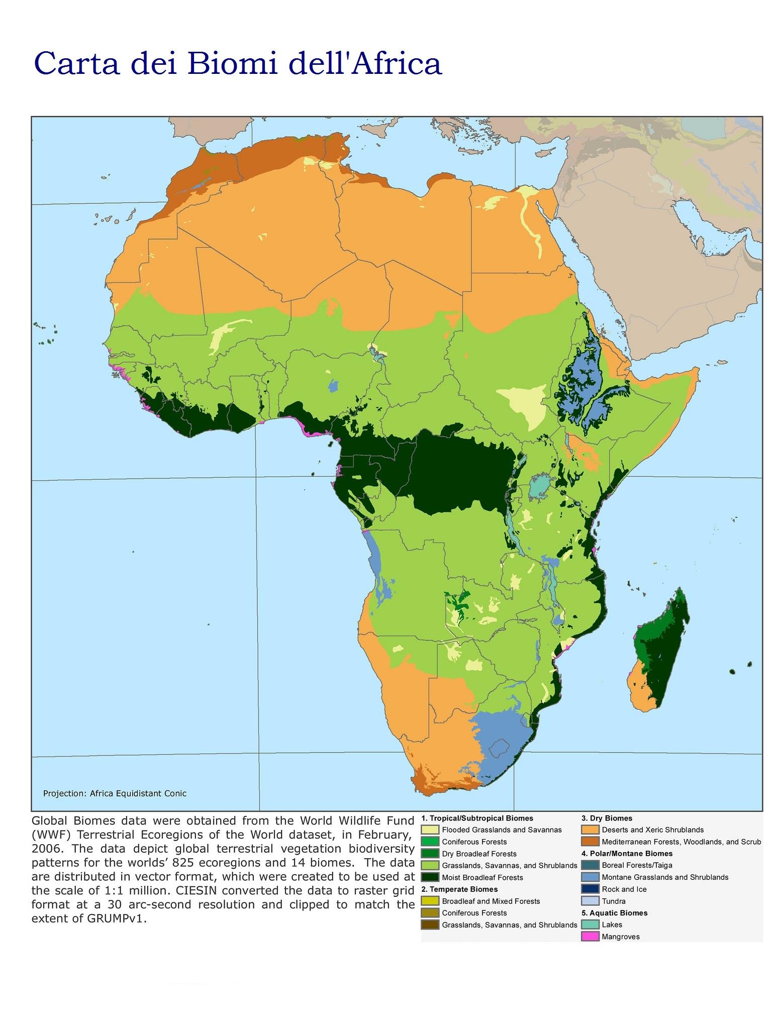 Bioma Africano Carta Dei Biomi Del Continente Africano
