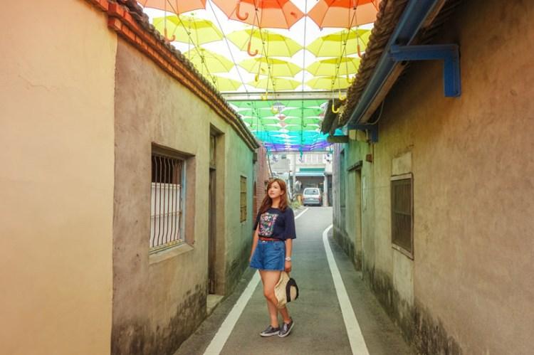 【彰化和美景點】卡里善之樹;文青風格滿溢,舊社區新亮點,漫步彩虹傘巷下,雨傘產業也能有新創思。