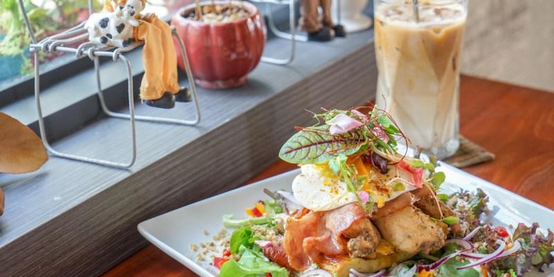 遇,假日 MELB & CO.   彰化市早午餐推薦,精緻大份量澳洲式早午餐,食用級花草入菜增添美感。