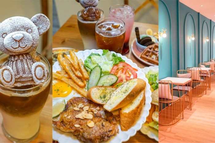 諾伊nooi cafe & brunch員林店 | 員林早午餐推薦,可愛小熊冰磚咖啡、套餐鬆餅點心,另有精品手沖。