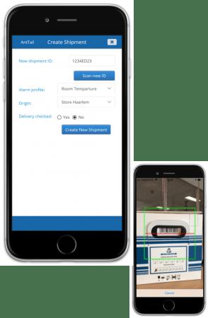 Create shipment in AntTail app