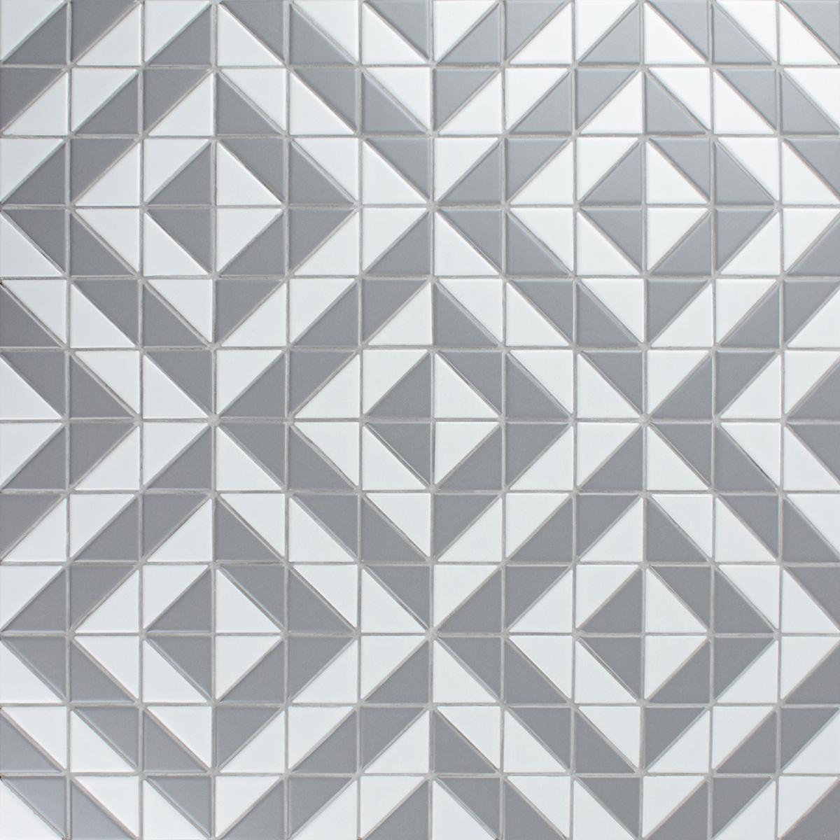 artistic 2 matte white grey triangle