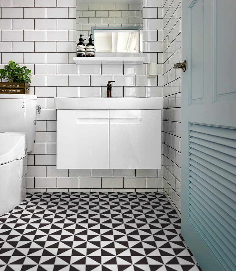 10 Modern Bathrooms That Use Geometric Tiles To Stand Out ...