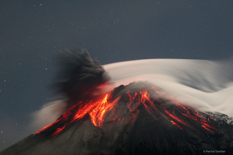 Tungurahua Volcano, in 2006 eruption