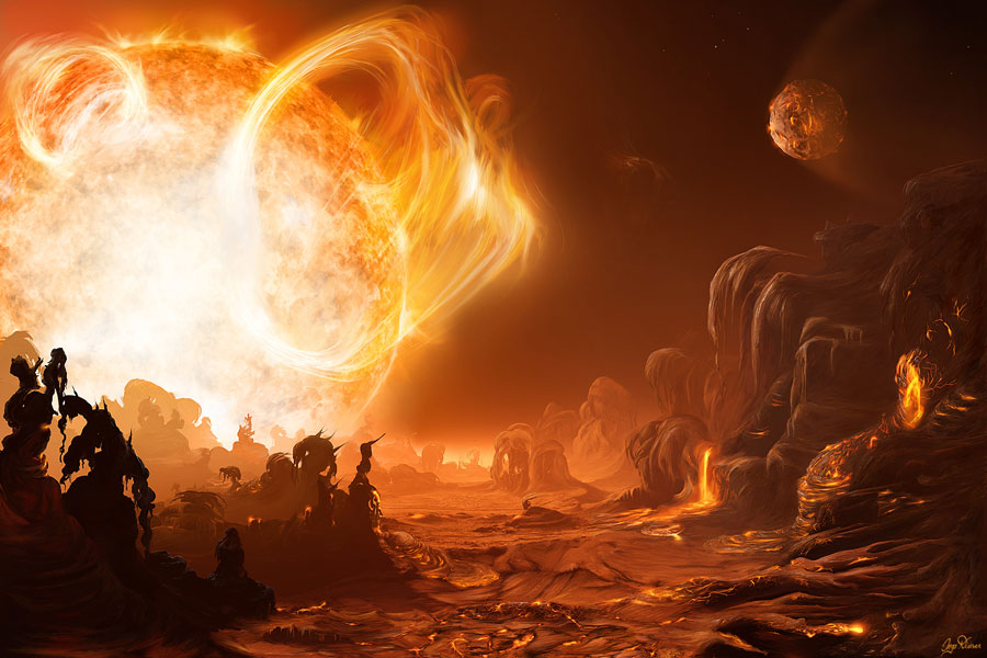 A Dangerous Sunrise over Gliese876d
