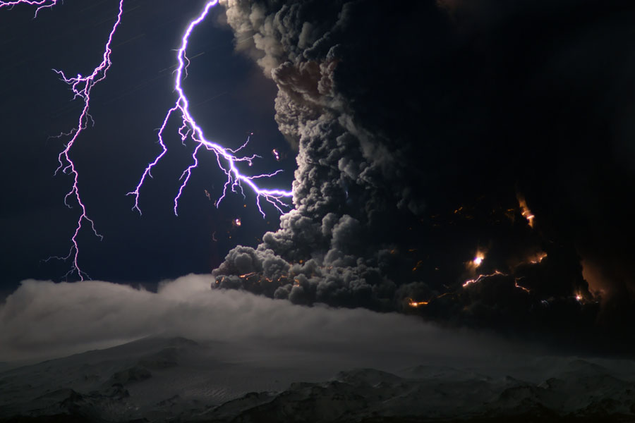Ash and Lightning Above an Icelandic Volcano Credit & Copyright: Marco Fulle (Stromboli Online)